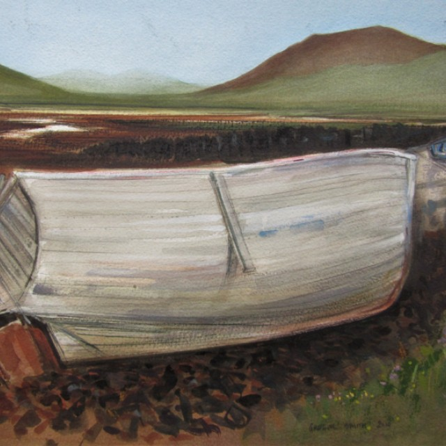 Abandoned hulk, Loch Erisort, Lewis, 2010