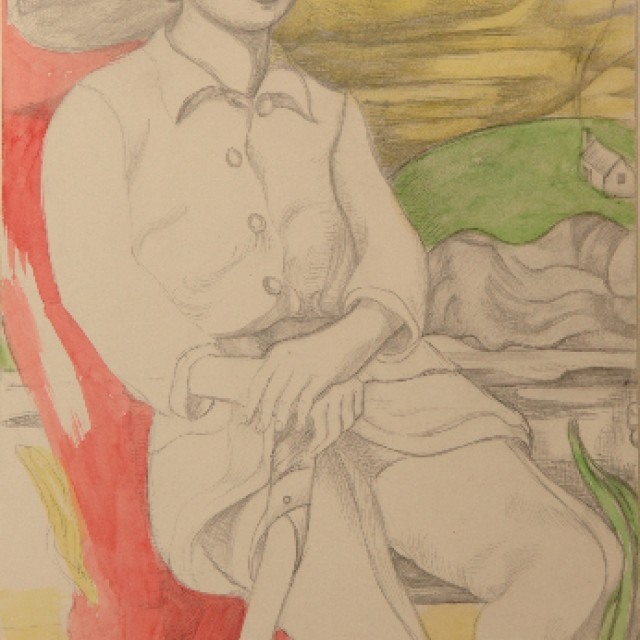 Study for Russian Red, 1913