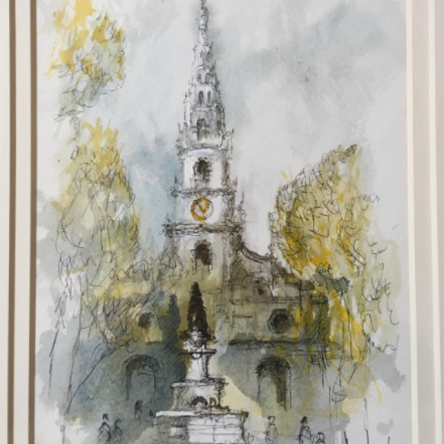 Church & Fountain 1982 (£350)