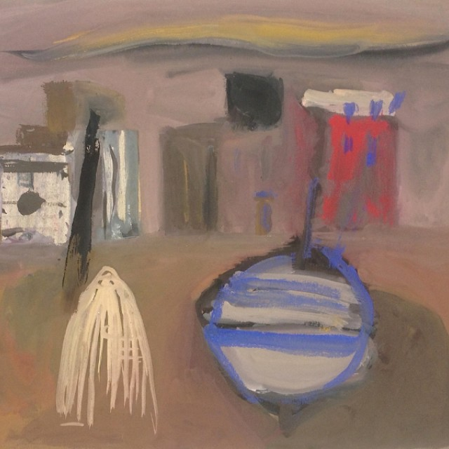 Boat and Buildings, 1956