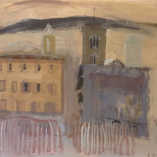 Buildings and Covered Stalls, Florence ii, 1956