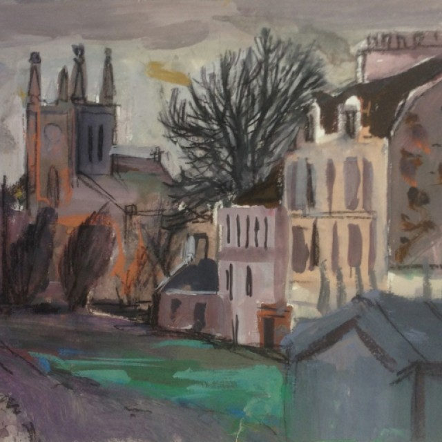 House and Church, Millport ii, 1956