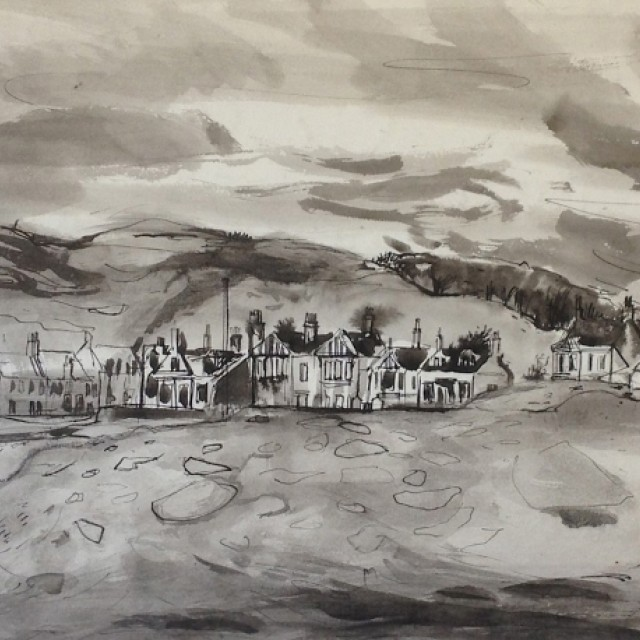 Houses on the Front, Millport Bay, ii, 1955