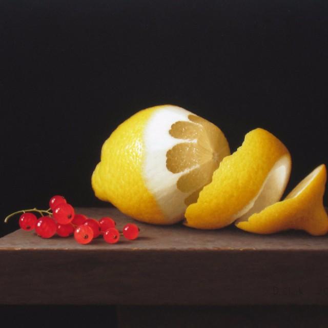 Peeled Lemon with Redcurrants