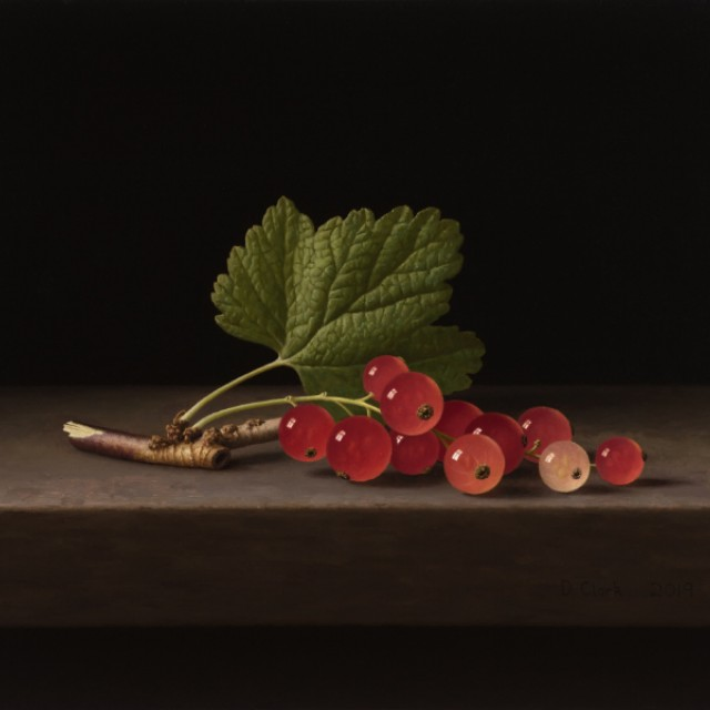 Sprig of Redcurrants with Leaf (sold)
