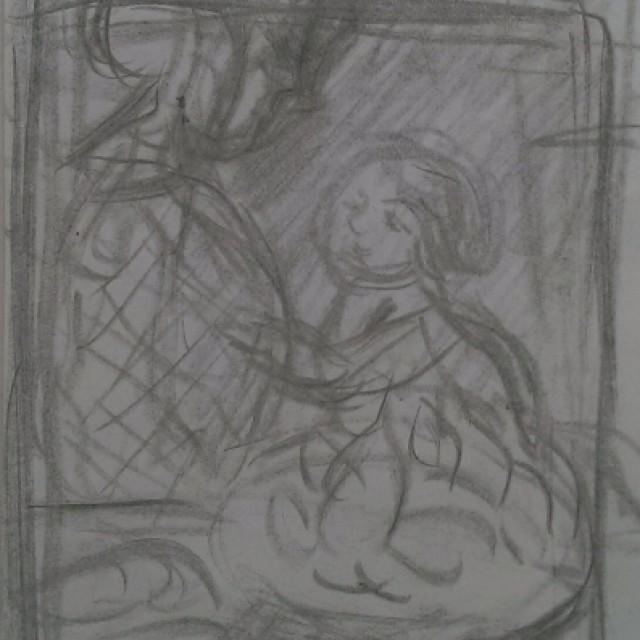 Mere et Enfant a Table c 1905