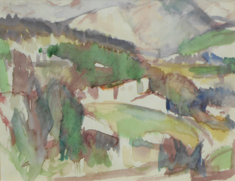 Landscape with Trees, Thorenc, 1927