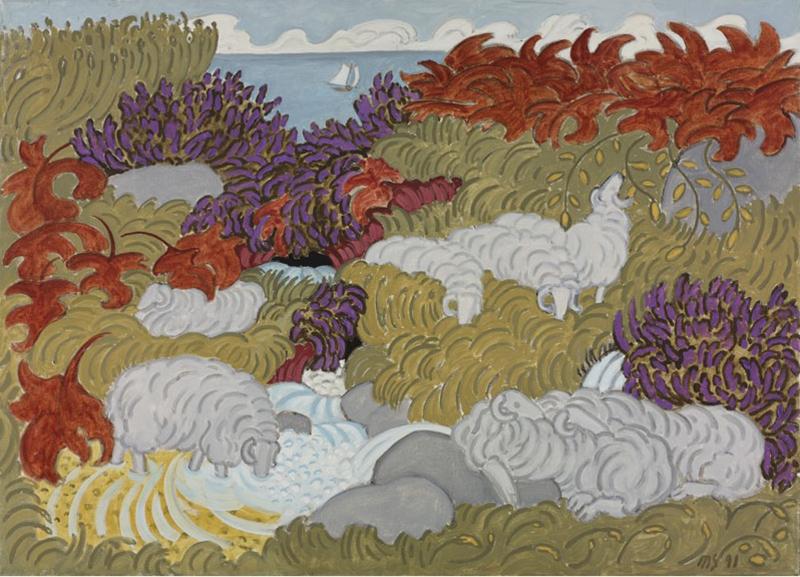 Sheep & Heather 4, 1991