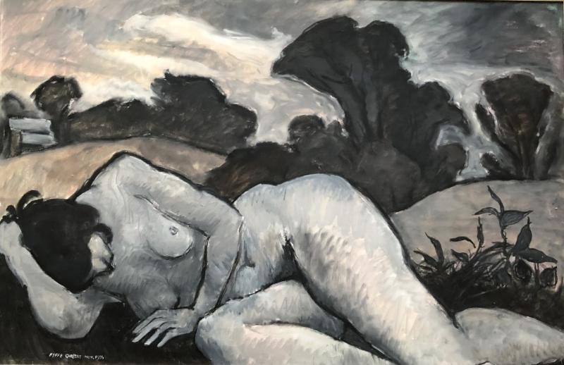 Sleeping figure in a dark landscape, 1976