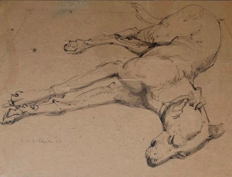 Resting Dog, 1953 (sold)