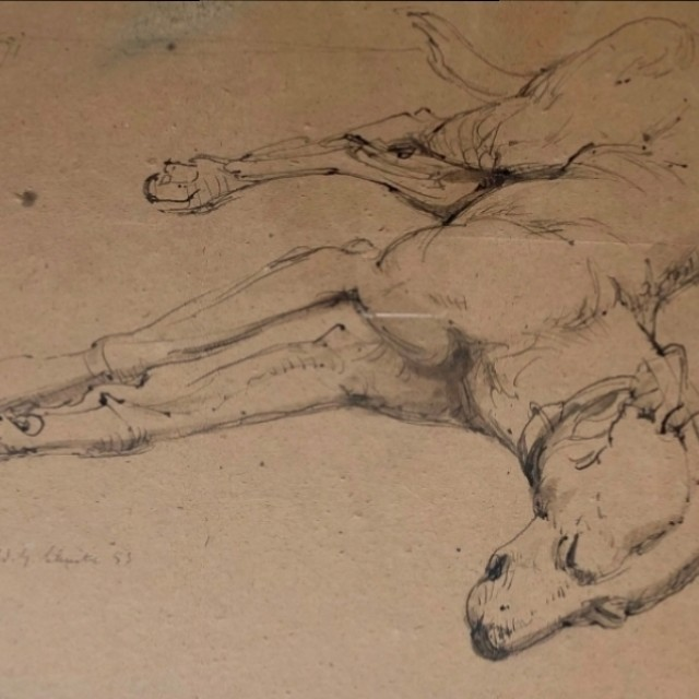 Resting Dog, 1953
