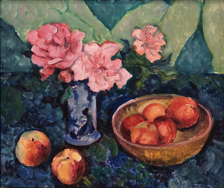 Still Life with peaches and roses, 1978 (sold)