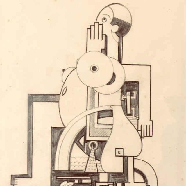 Figure in a wheelchair, c. 1928