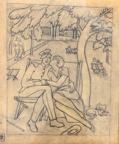 Couple on a deckchair
