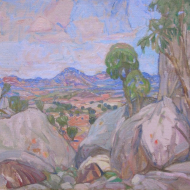 Landscape with Trees & Rocks