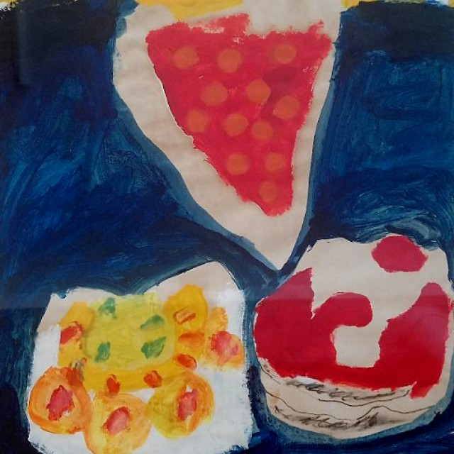 Cherry Flan, Gateau & Cream Bun 1966