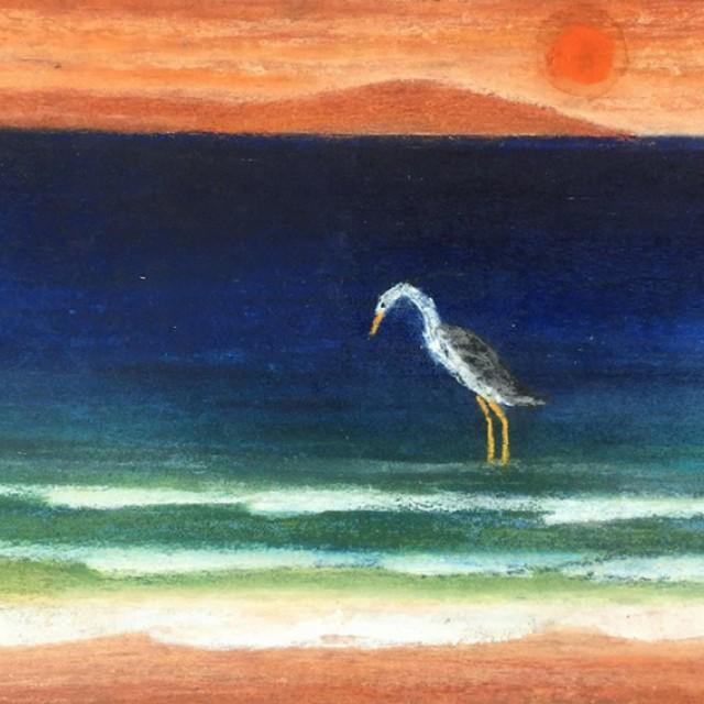 Heron Fishing at Daybreak
