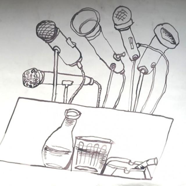Lectern & Microphones