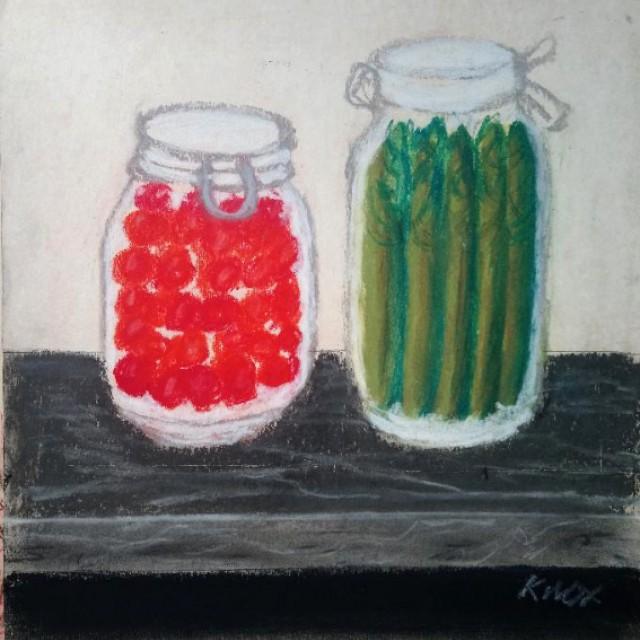 Preserved Cherries & Asparagus