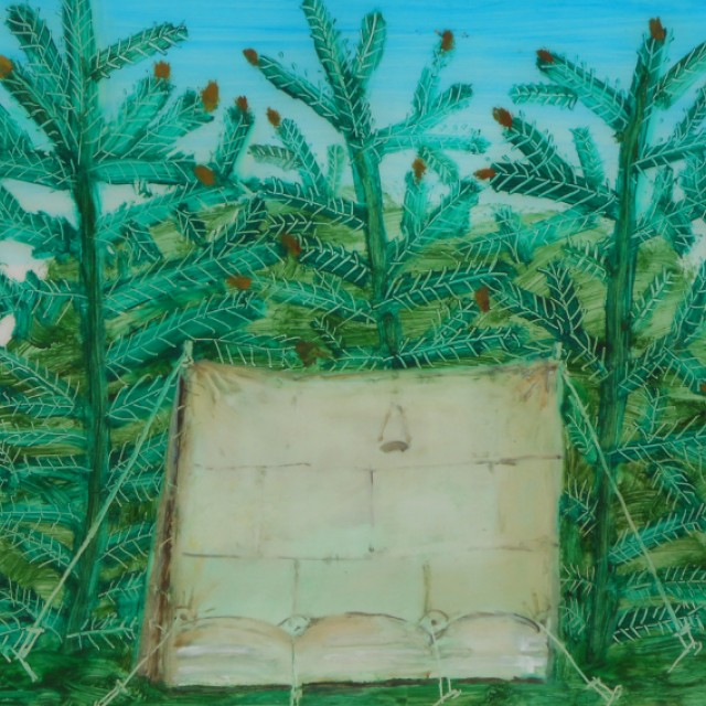 Tent with Pine Trees