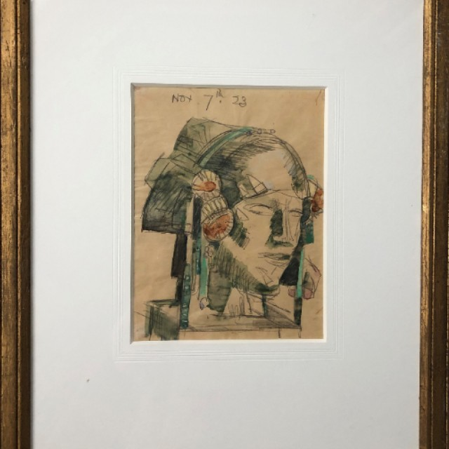 Study for Sculpture (in frame)