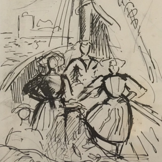 French Fisherwomen (Figures on a Boat)