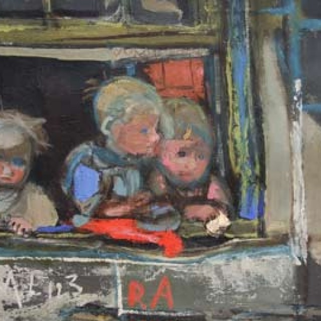 Three Children at a Window