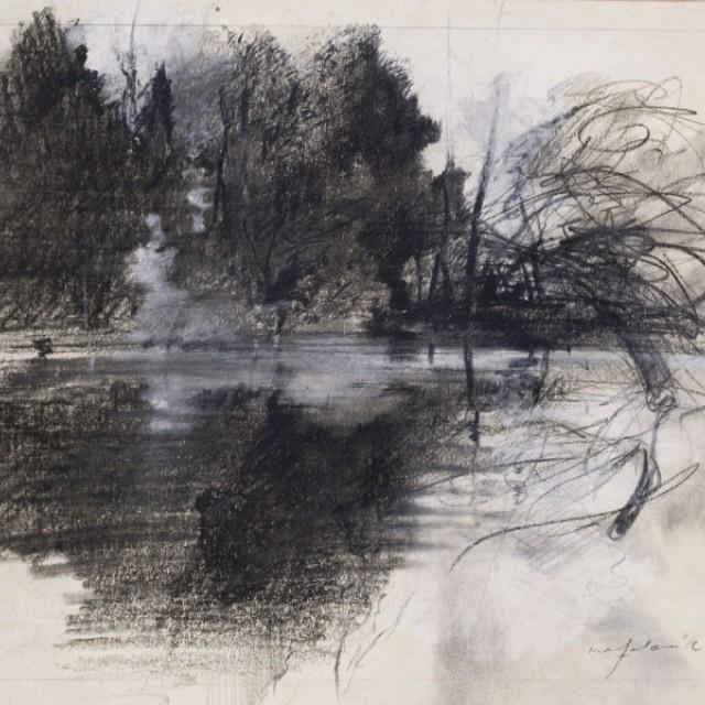 The Lake, Preparatory drawing for Swan Lake