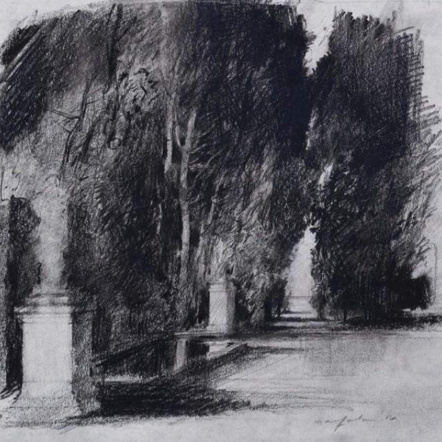 The Park II, Preparatory drawing for Swan Lake