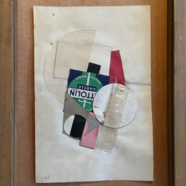 Blue, Green, Red, Pink Collage, 1941