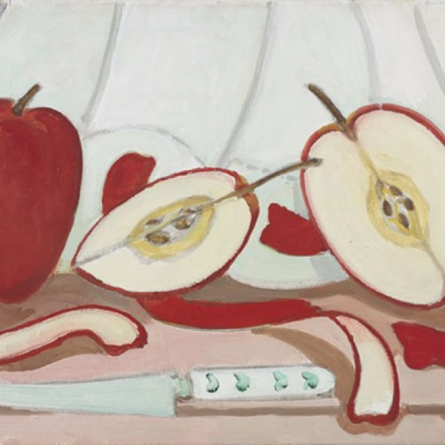 Red Apples with Knife, 1988
