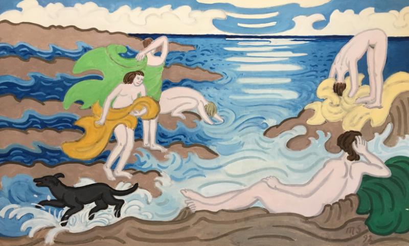 Bathers & Dog, 1992