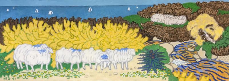 Sheep on Hillside 1, 1991   £5,800