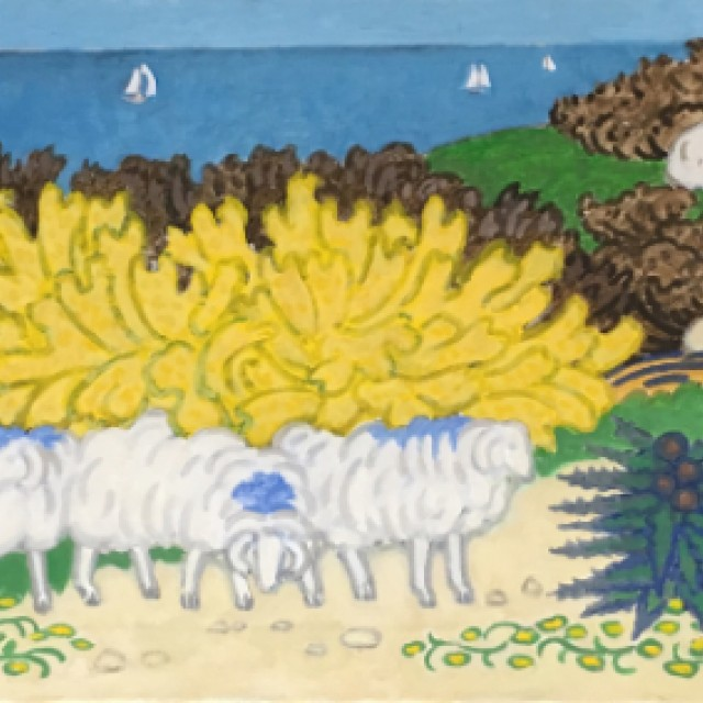 Sheep on Hillside 1, 1991