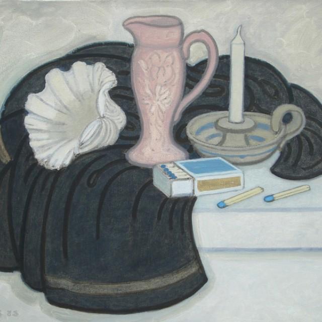 Pink Jug and Black Cloth