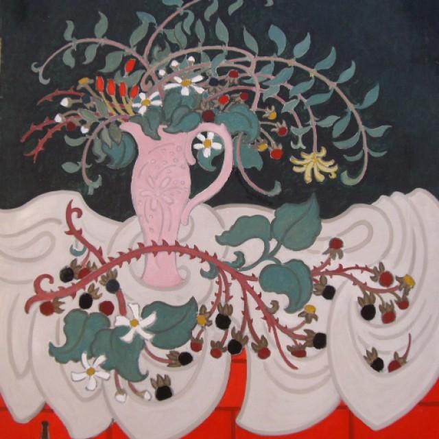 Pink Jug & Brambles (red), 1990