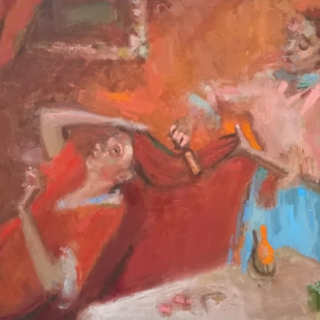 Coming the hair (after Degas)