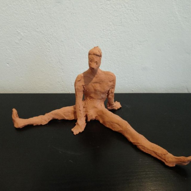 Male Dancer with Legs Splayed