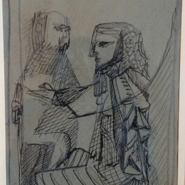 Study for \\\'King Lear\\\', Stratford, 1953