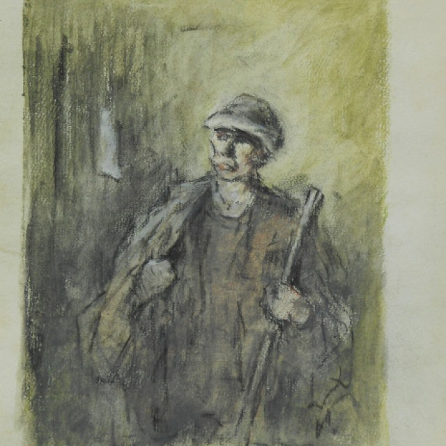 Figure with stick