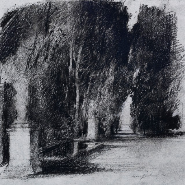 The Park ii, preparatory drawing for Swan Lake, Royal Ballet