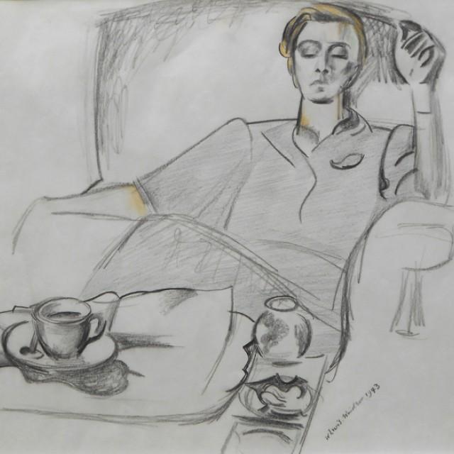 Girl at a Tea Table, 1943
