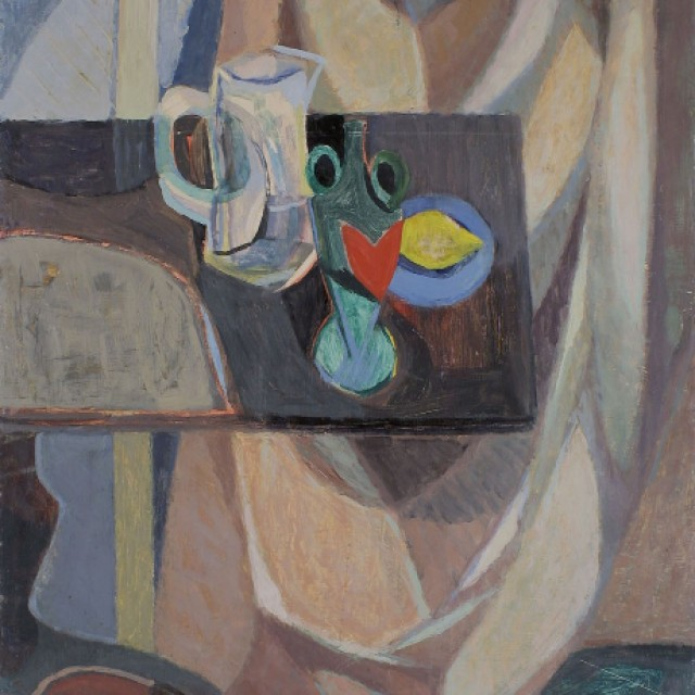 Still Life with Curtain