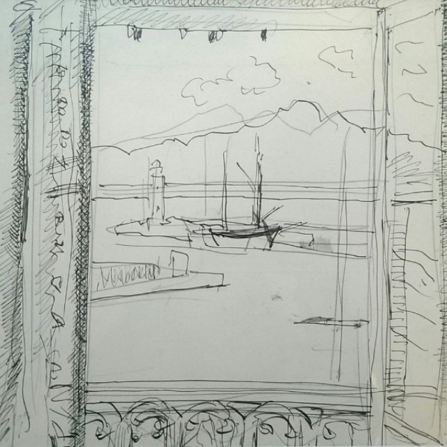 View from the cafe, Cassis