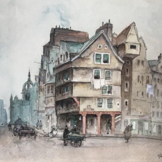 High Street, towards St Giles, Edinburgh