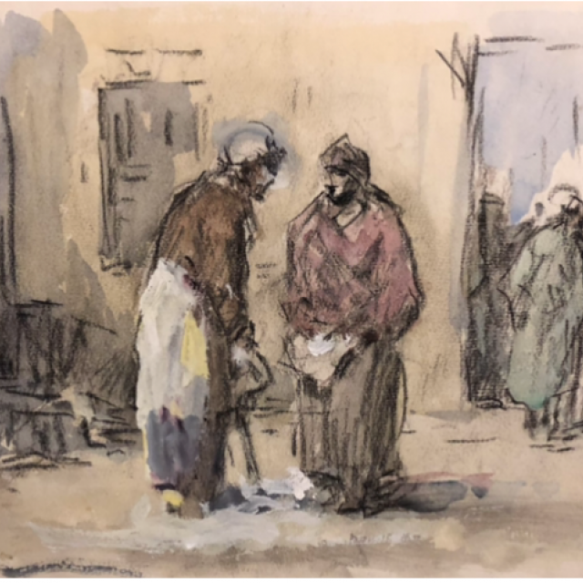 Two Figures in the Street