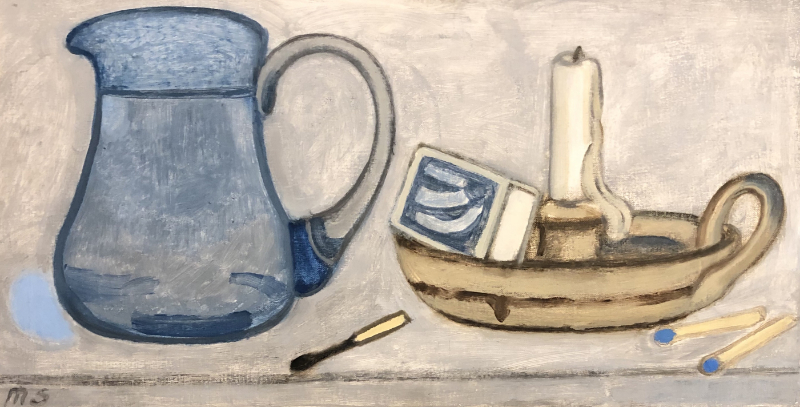 Blue Jug & Candlestick