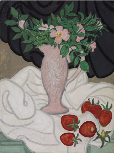 Pink Jug & Strawberries, 1984