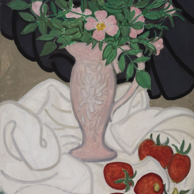 Pink Jug & Strawberries, 1984