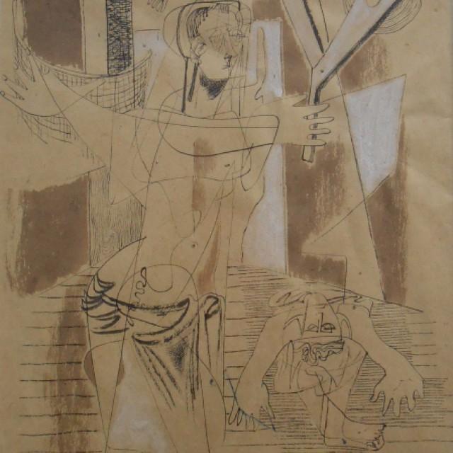 Figure Study, 10 Nov 1942
